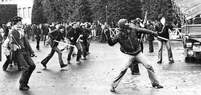 scontri in piazza, anni di piombo